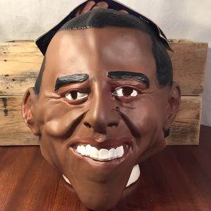 Politically incorrect Obama adult mask costume